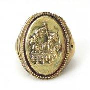 アニュス・デイ シグネットロケットリング 凸 真鍮 指輪 神の子羊 11号 【The Sacred Secret Original Jewelry】