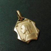 ルルドの聖母マリア ゴールドメッキ ヴィンテージ メダイ