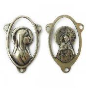 聖母マリアとキリスト ロザリオ センターメダイ ヴィンテージ デッドストック アクセサリー パーツ