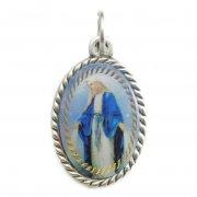 無原罪の聖母マリアのメダイ カラーエナメル イタリア製