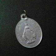聖母マリア 聖心  アンティーク メダイ  シルバー  ペンダント