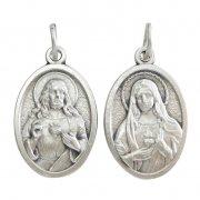 聖心を指すキリストと聖母マリアの御心 メダイ
