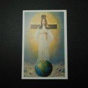 ヴィンテージ ホーリーカード  聖母子 地球 十字架 羊の群れ
