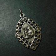 パドヴァの聖アントニオ アンティークメダイ 百合の紋章