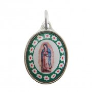 グアダルーペの聖母 カラフル メダイ ペンダント