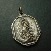 聖母被昇天 聖マルセラン・シャンパニャ アンティーク メダイ