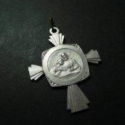 聖体拝領 キリスト クロス型 アンティーク メダイ