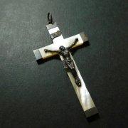 マザーオブパール クロス アンティーク 十字架  シルバー
