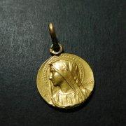 聖母 アンティーク メダイ ゴールド