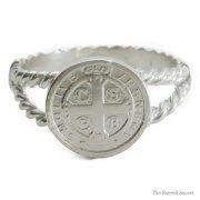 聖ベネディクト クロス メダイ リング 指輪   シルバー925