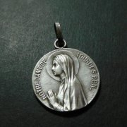 ルルドの聖母 アンティーク メダイ