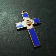 聖心 クロス アンティーク 十字架  エナメル