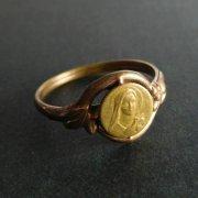 リジューのテレーズ リング 指輪 アンティーク ゴールドメッキ