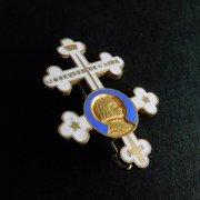 聖ジャンヌ・ダルク ロレーヌ十字 ブローチ アンティーク