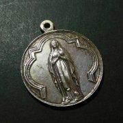 ベルギーのルルド聖母マリア アンティーク メダイ