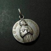 アッシジの聖フランシスコ 平和の聖母  アンティーク メダイ