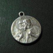 聖ペトロと聖パウロ 教皇ピウス11世  アンティーク メダイ