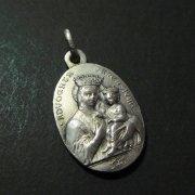 シエナの聖カタリナ 聖母子 アンティーク メダイ