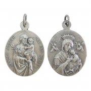 聖ヨセフ 絶えざる御助けの聖母 メダイ 楕円 ドイツ製