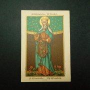 アンティーク ホーリーカード  ハンガリーの聖エリザベト エリザベス