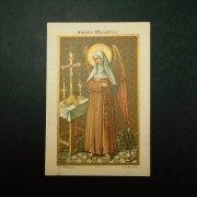 アンティーク ホーリーカード  驚くべき聖クリスティーナ