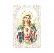 ホーリーカード レース 聖母マリア 御心 百合の花 イタリア製