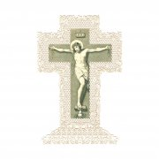 ホーリーカード レース  イエス・キリスト 磔刑 十字架 イタリア製
