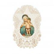 ホーリーカード レース 聖母子 星 イタリア製