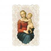ホーリーカード レース カウパーの小聖母子 ラファエロ  イタリア製