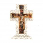 ホーリーカード レース  イエス・キリスト 磔刑 聖人 十字架 イタリア製