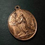 パドヴァの聖人アントニオ 無原罪の御宿り 聖母マリア アンティーク メダイ