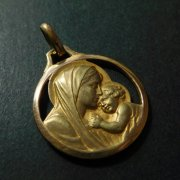 聖母子 ルルドの聖母 ヴィンテージ メダイ