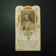 アンティーク ホーリーカード  イエス キリスト 百合の花