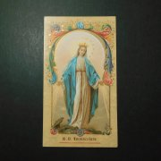 アンティーク ホーリーカード  無原罪の聖母