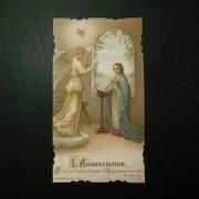 アンティーク ホーリーカード  受胎告知 聖母 聖ガブリエル