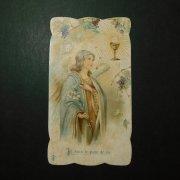 アンティーク ホーリーカード  天使と聖杯 百合