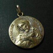 アッシジの聖フランシスコ パドヴァの聖アントニウス アンティーク メダイ