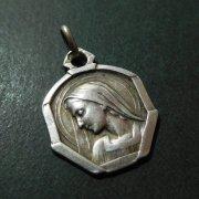 聖母マリア シルバー アンティーク メダイ