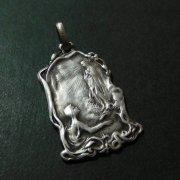 ルルドの聖母  アールヌーボー アンティーク シルバー メダイ