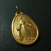 聖母マリア ヴィンテージ メダイ ゴールド サン・ダミアン