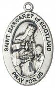 スコットランドの聖マーガレット メダイ スターリングシルバー製 ペンダント 【受注発注】