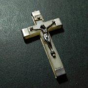 アンティーク  キリスト磔刑  十字架 クロス アルミx樹脂