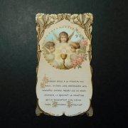 アンティーク ホーリーカード  聖杯 天使 薔薇と百合