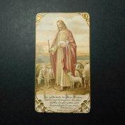 アンティーク ホーリーカード  キリスト 羊飼い