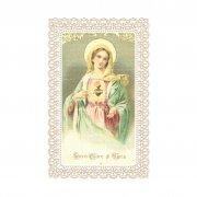 ホーリーカード レース 聖母マリアと御心 イタリア製