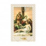 ホーリーカード レース キリスト 十字架の道行き 第13留 イタリア製