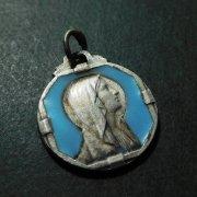 ルルドの聖母マリア  エナメル アンティーク メダイ