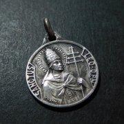 教皇レオ1世 アンティーク シルバー メダイ