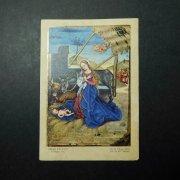 アンティーク ホーリーカード  キリストの生誕 聖母マリア