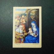アンティーク ホーリーカード  キリストの生誕 東方三博士 マギ